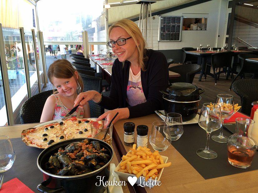 Moules frites in campingrestaurant