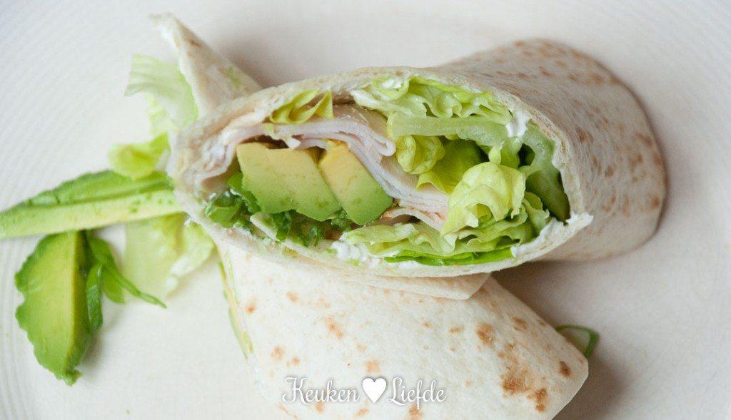 Wrap met kipfilet en avocado