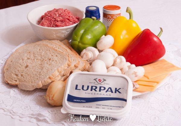 Lurpak - oventosti met gehakt en paprik