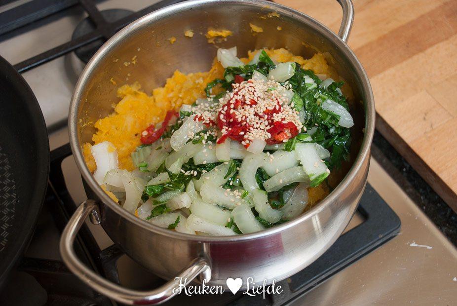 Zoete aardappel-pompoenstamppot-5395