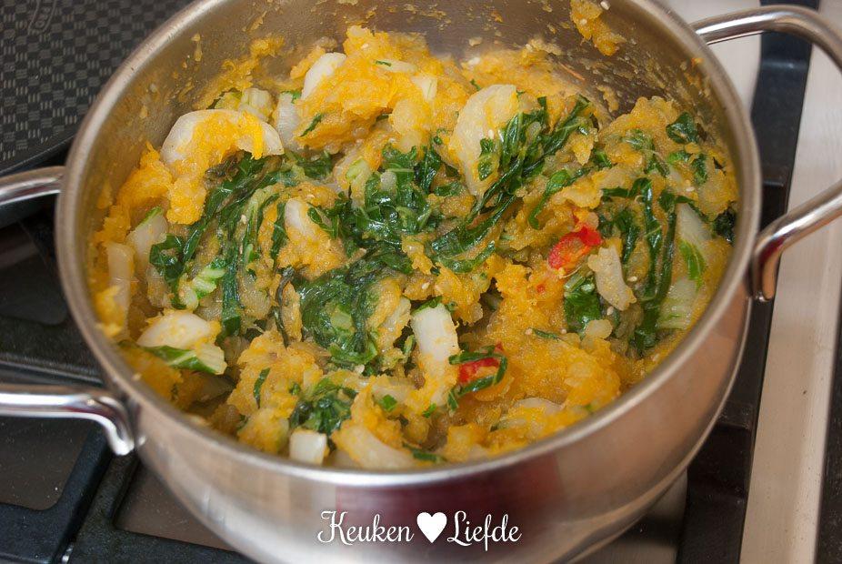 Zoete aardappel-pompoenstamppot-5396