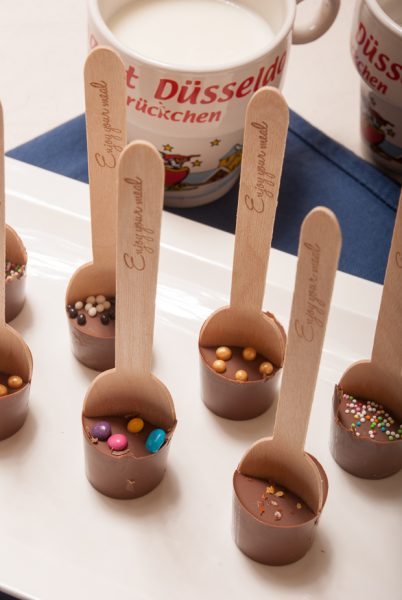 Melkchocoladelepels (om chocolademelk te maken)