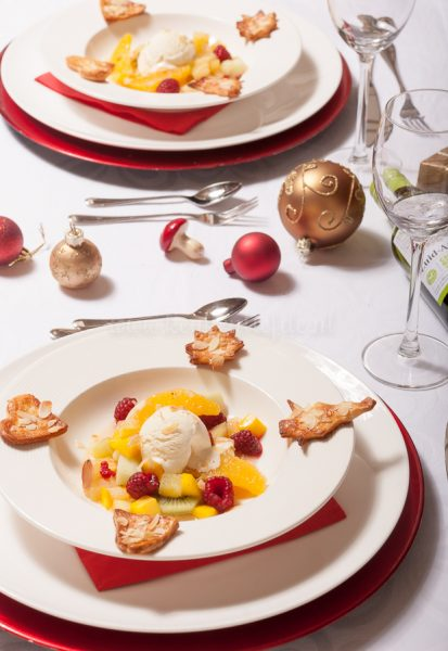 Kerstspecial: vanilleroomijs met warme vruchten