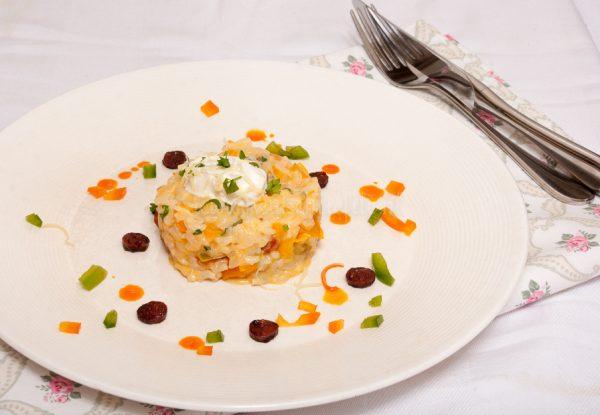 Paprikarisotto met chorizo (uit de oven)