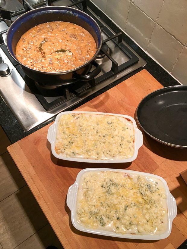 Lasagne en stoofvlees