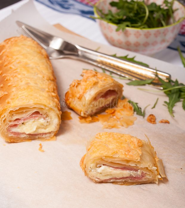 Ham-kaasstrudel