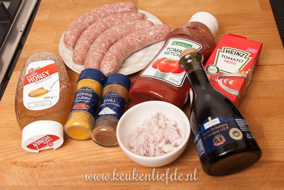 Duitse currywurst-9765