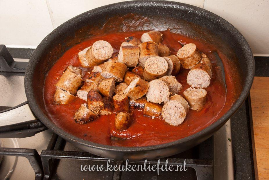 Duitse currywurst-9776