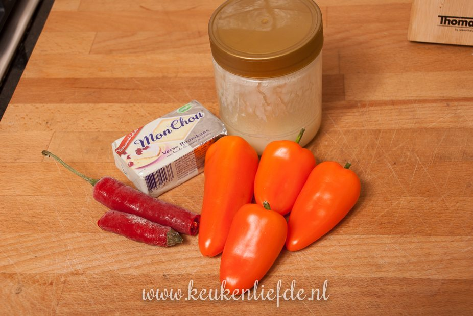 Oranje paprika met roomkaas-0489