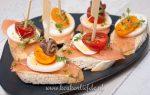 Spaans hapje: pinchos met zalm en ei