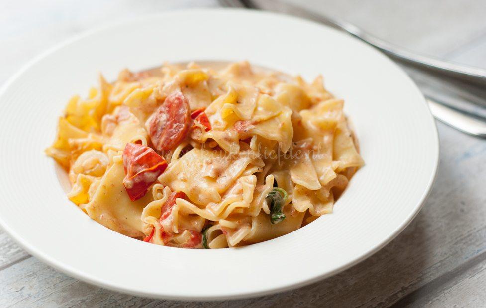Pasta met cherrytomaat-mascarponesaus