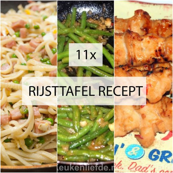 11x rijsttafel recept