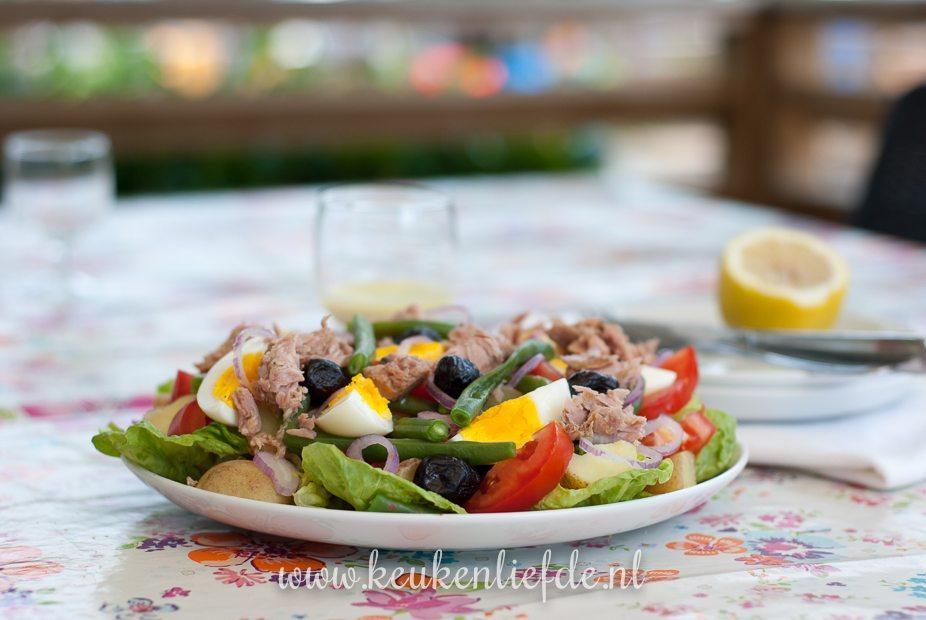 Koken op de camping: salade niçoise