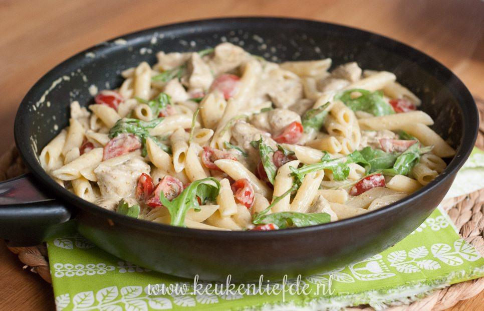 pasta pesto met kip - keuken♥liefde
