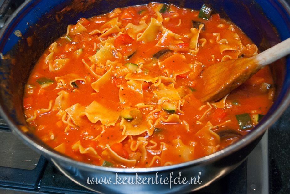 Zelfgemaakte lasagnette
