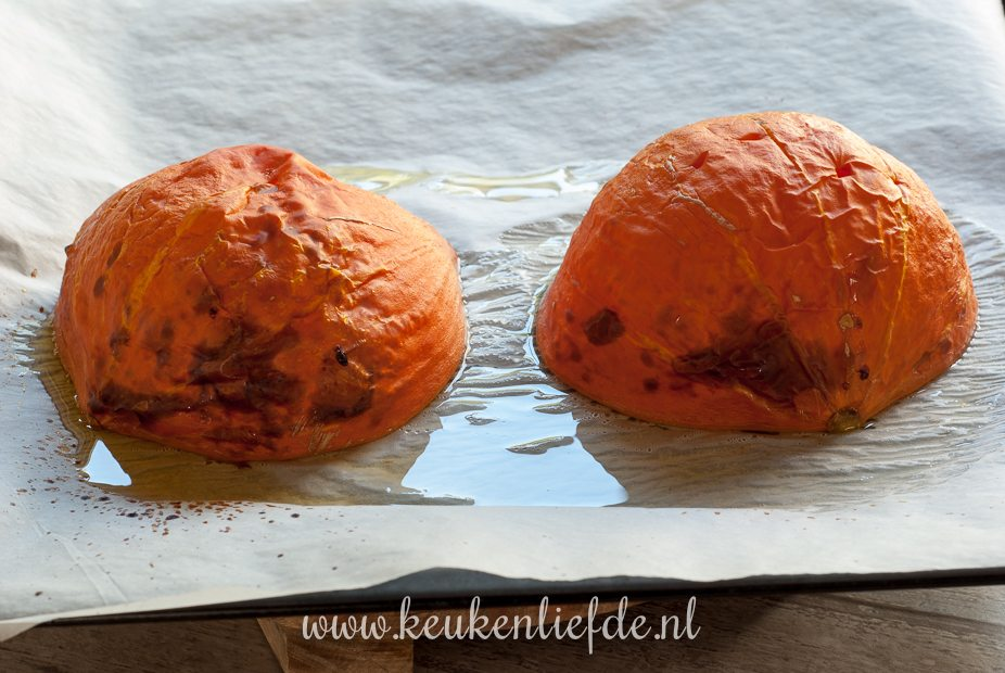 Geroosterde pompoenpuree