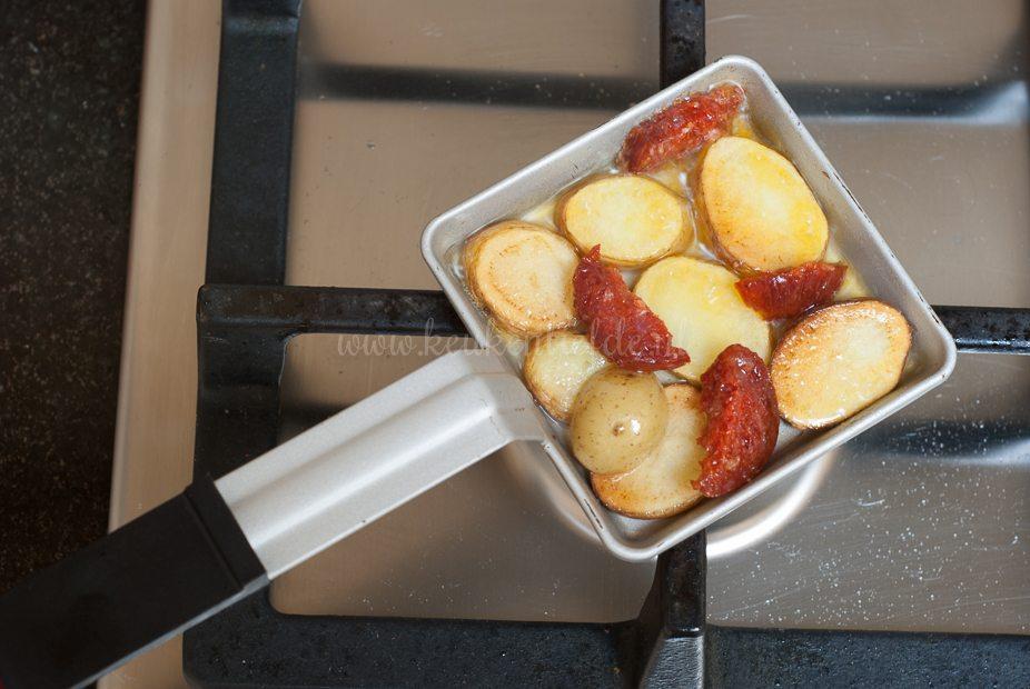 Gourmetpannetje: aardappel omelet met chorizo