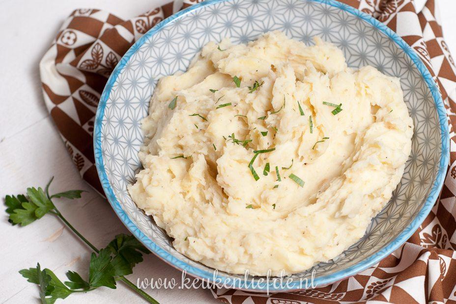 Aardappel knolselderijpuree