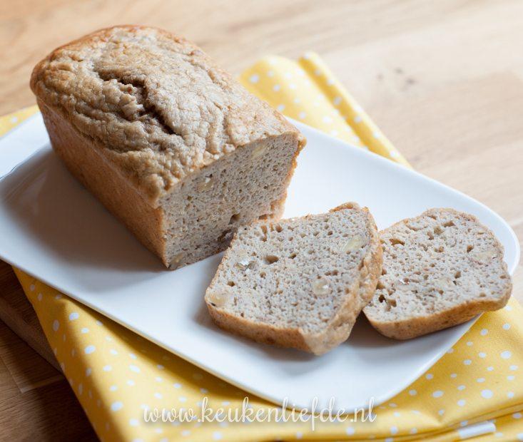 Bananenbrood zonder suiker en boter