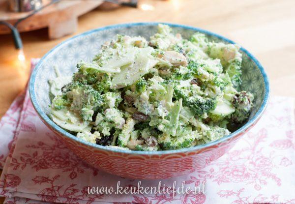 broccolisalade met yoghurtdressing