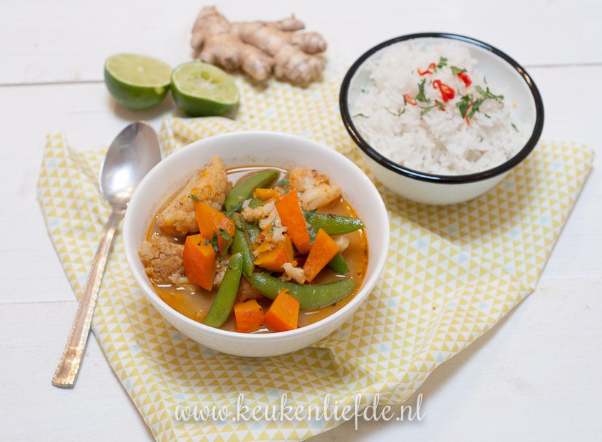 Thaise rode groentecurry