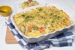 Rösti-ovenschotel met vis en wortel