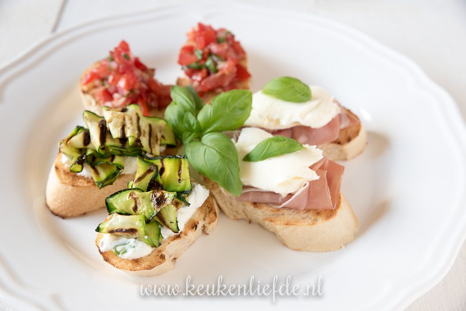 3x bruschetta recept