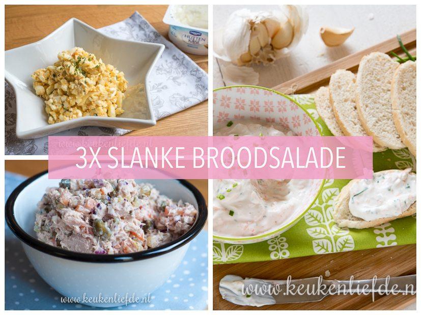3x slanke salade voor op brood