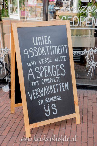 Croque monsieur met witte asperge + opening Dé Aspergewinkel!