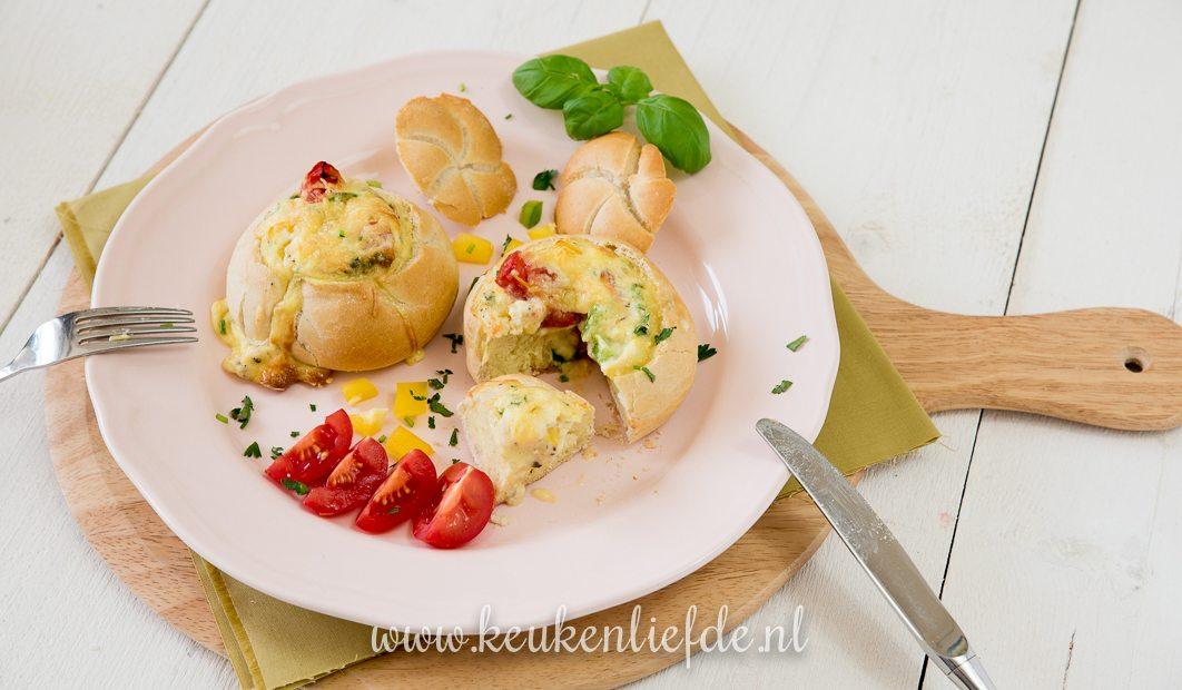 Gevulde broodjes met ei + kookfilmpje!