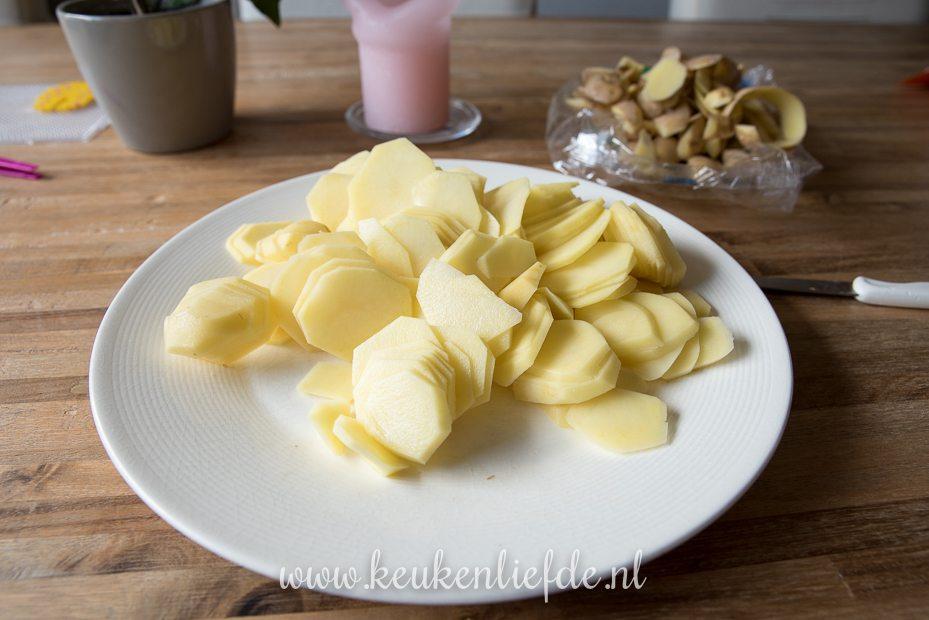 Aardappelgratin met truffelroom