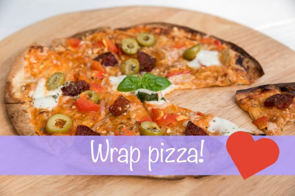 Wrap pizza + kookfilmpje!