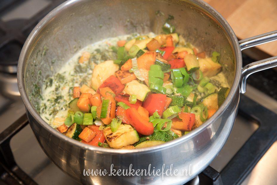 Snelle lasagne met zalm en spinazie