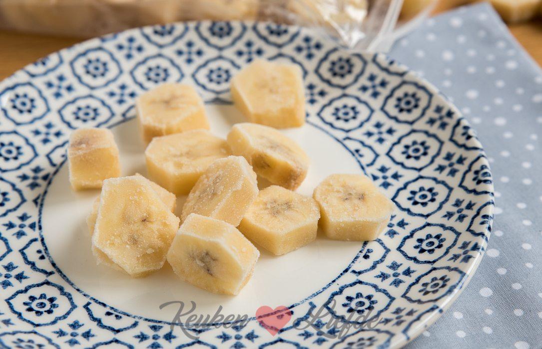 Gezonde snack: bevroren banaan!
