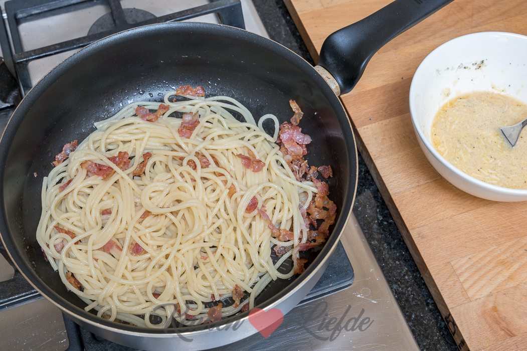 Spaghetti carbonara (kookvideo!)