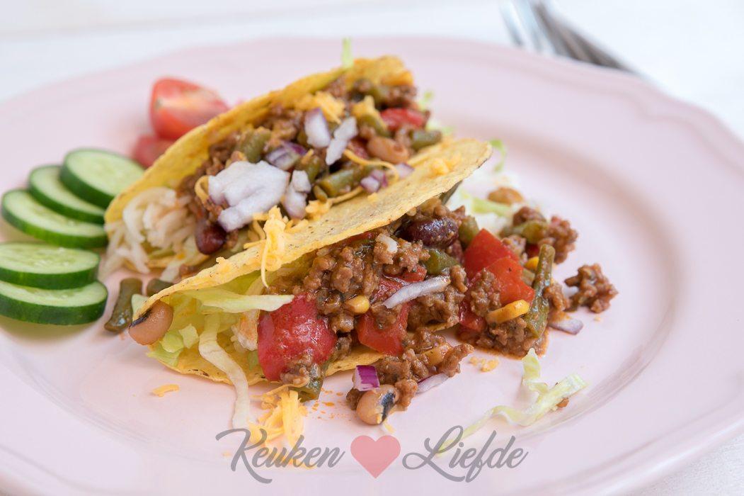 Taco's met gehakt en rijst