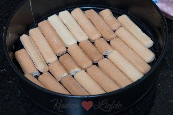 Perzik kwarktaart met lange vingers