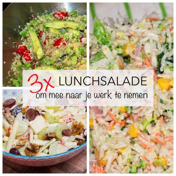 3x lunchsalade om mee naar je werk te nemen