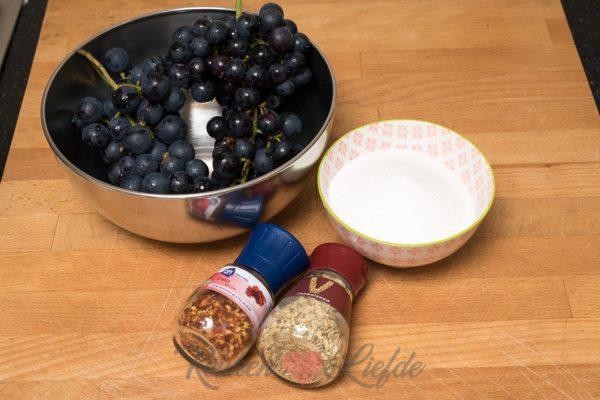 Druiven op siroop