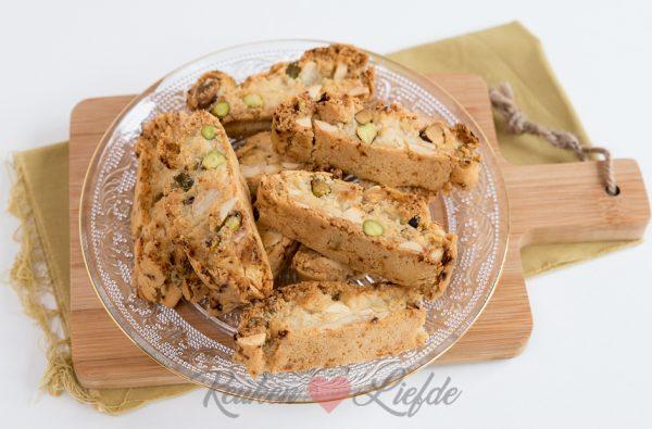 Amandel-pistachekoekjes uit kookboek Eataly