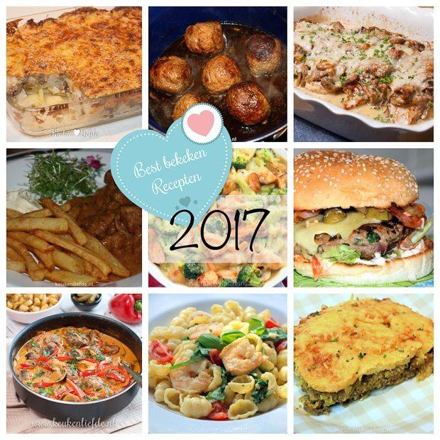 Top 15 best bekeken recepten 2017