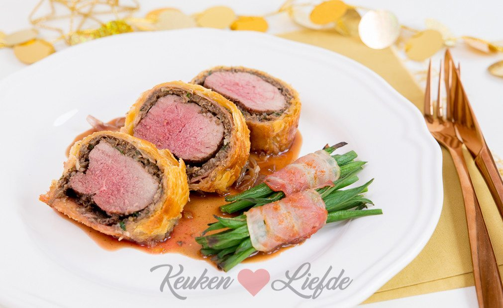 Hert wellington met wildsaus