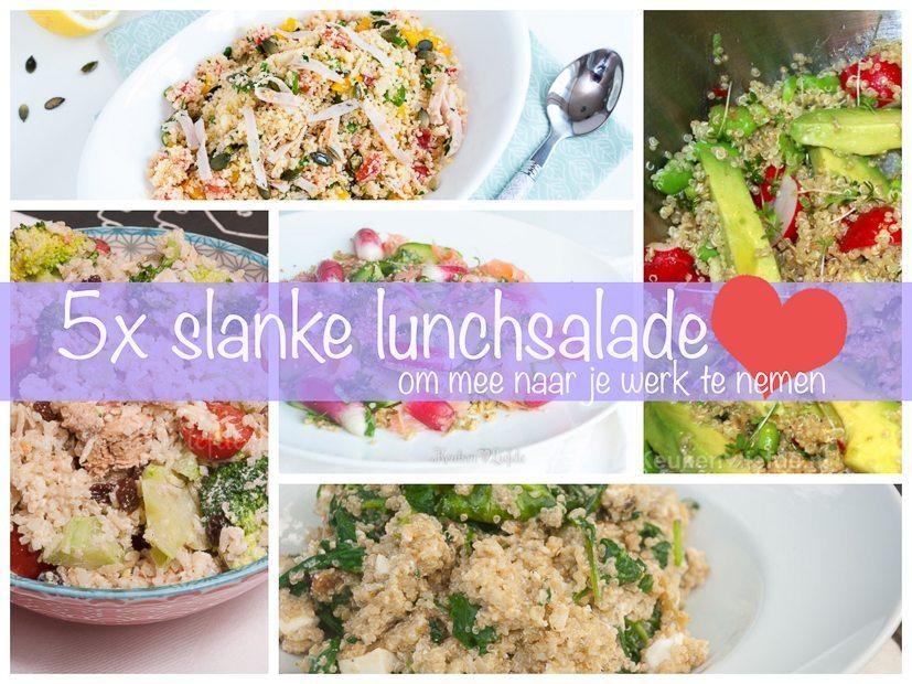 5x slanke lunchsalade om mee naar je werk te nemen