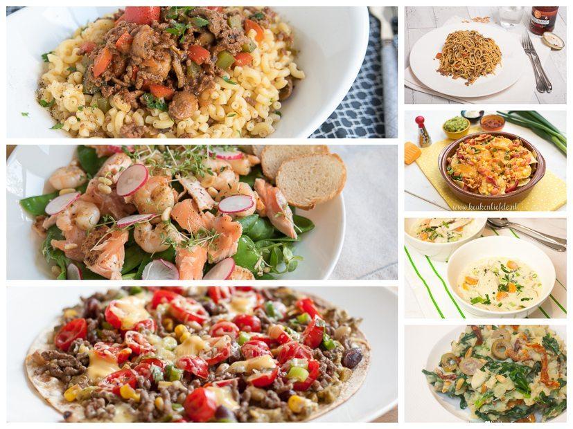 Een drukke week voor de boeg, deze gerechten staan zo op tafel