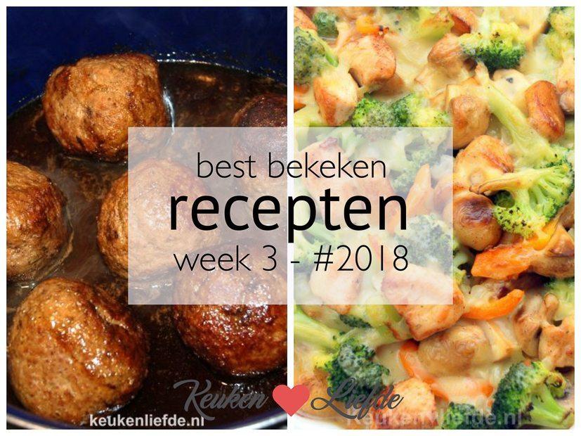 Best bekeken recepten week 3 - #2018