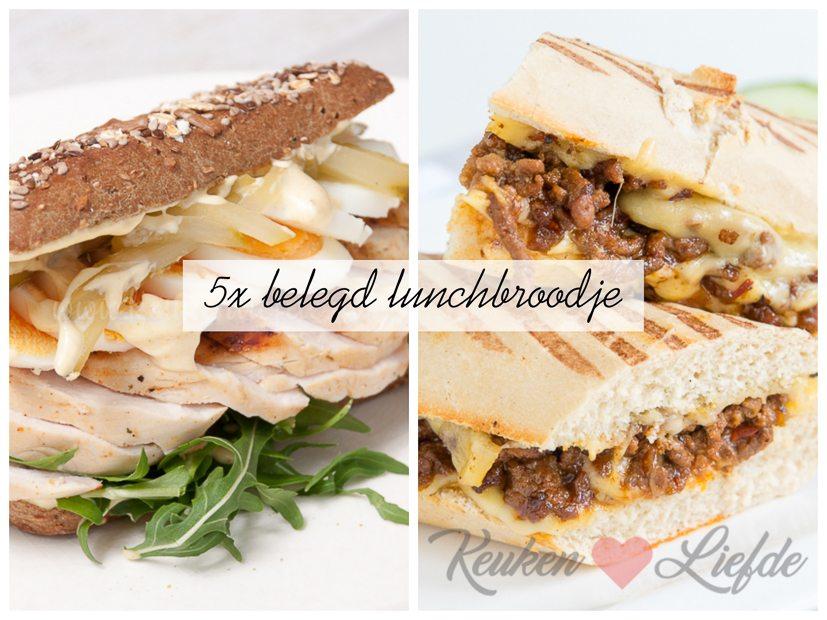 Populair 5x belegd lunchbroodje - Keuken♥Liefde #FH01