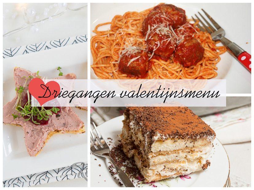 Italiaans valentijnsmenu