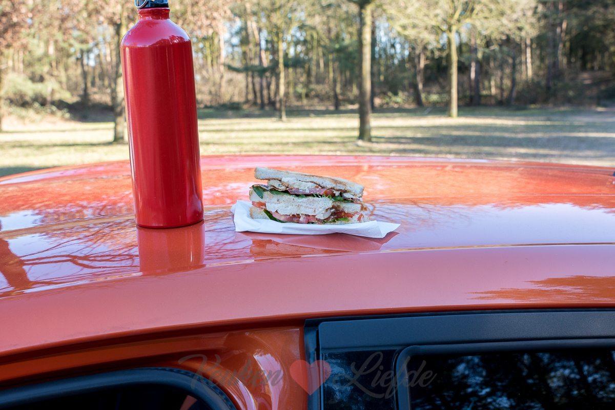 Club sandwich met kip en bacon (+ afscheid van de Nissan Micra!)