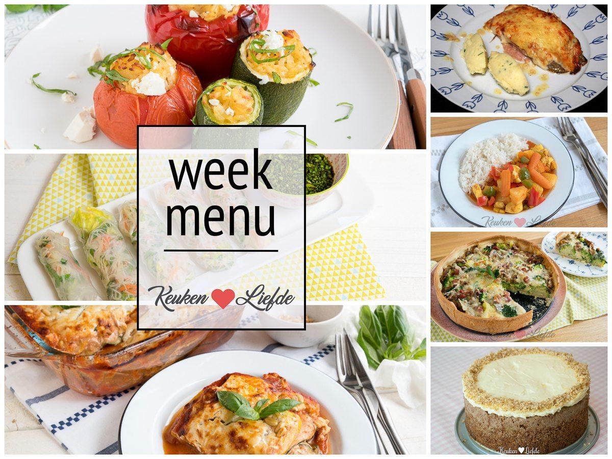 Weekmenu #6 - boordevol groente