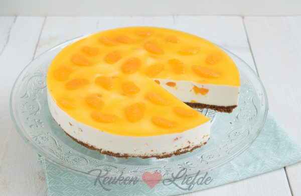 Kwarktaart met mandarijn
